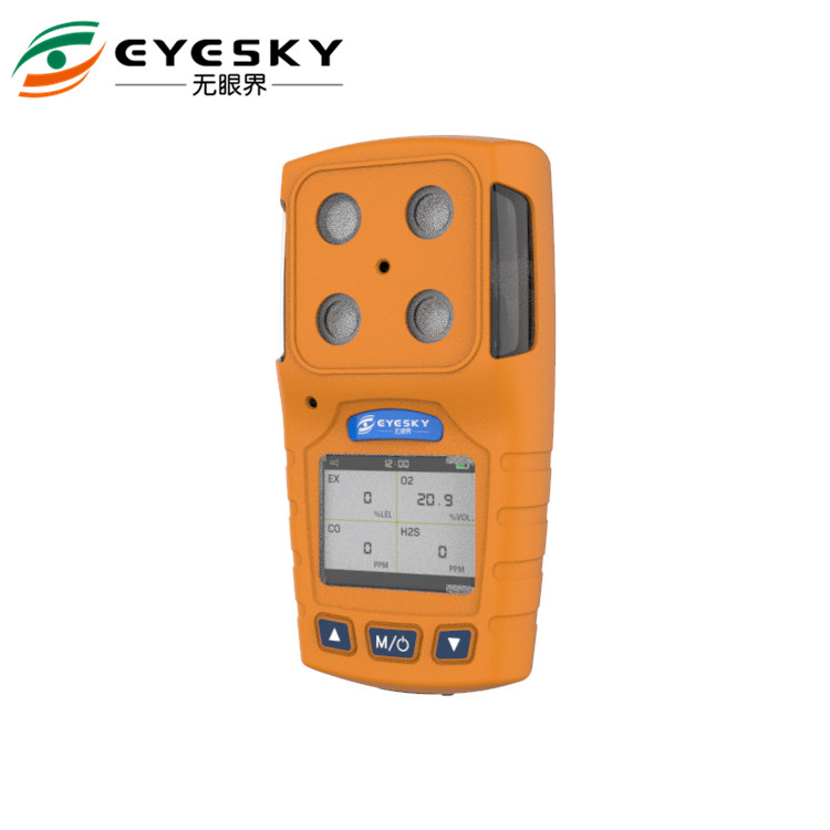Audible Visual Alarm Portable Multi Gas Analyser Hazardous Diffusion Sampling